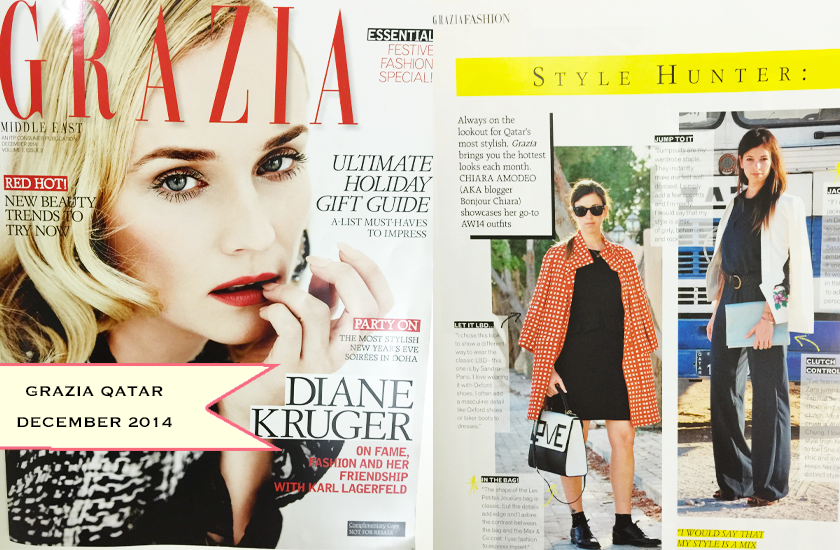 On Grazia Qatar - December 2014
