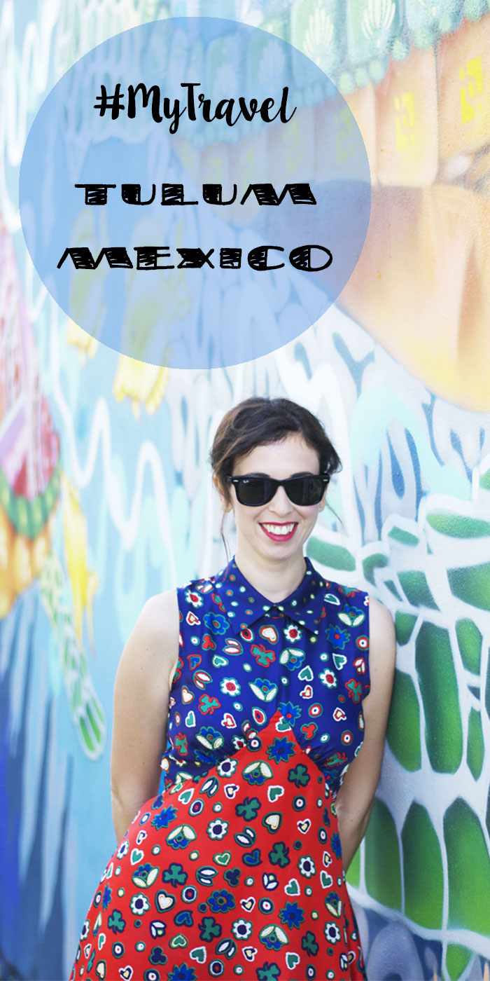 #MyTravel - Murals in Tulum, Mexico. Wearing Manoush silk dress.