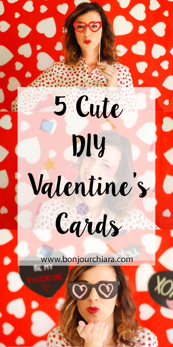 5 Cute DIY Valentine's Cards - www.bonjourchiara.com