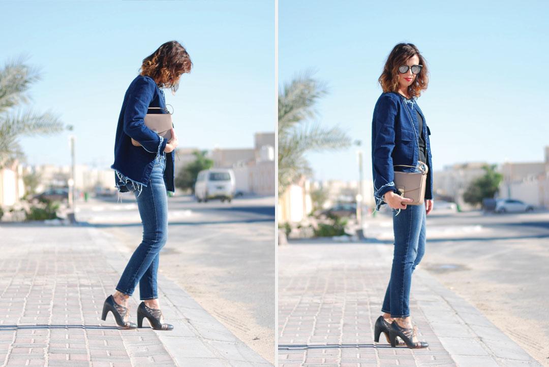 How to wear denim from head to toe - www.bonjourchiara.com