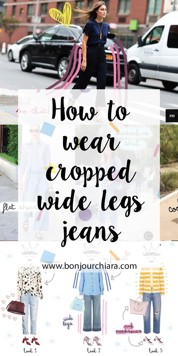 How To Wear Cropped Wide Leg Jeans - www.bonjourchiara.com