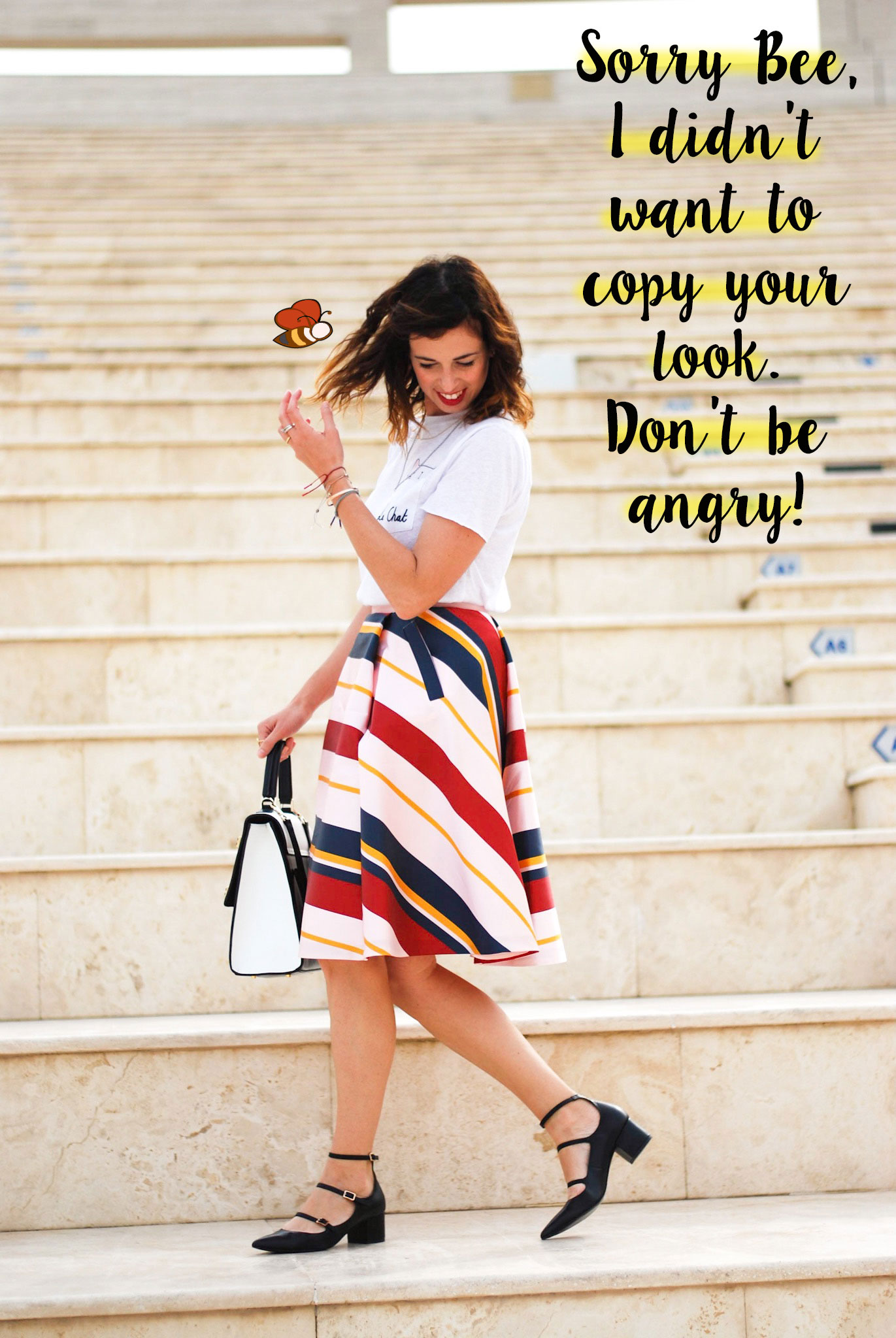The striped skirt manifesto: how to dress your favorite skirt with the coolest accessories. - www.bonjourchiara.com