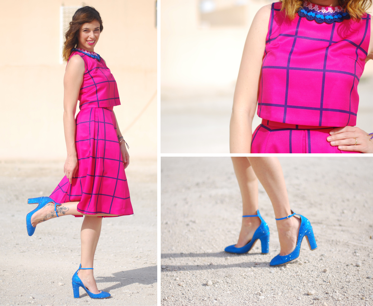 HOTTIEWOOD LOOK - PINK CHECK - www.bonjourchiara.com