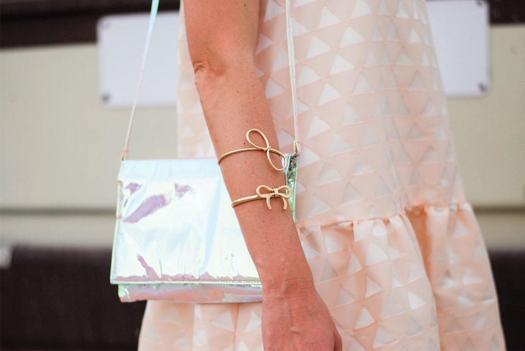 Ribbon bracelets and Zilla Bag styled by Bonjour Chiara - www.bonjourchiara.com