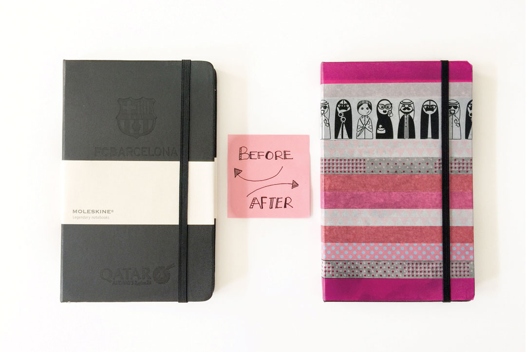 DIY Project with Moleskine and Washi Tapes - www.bonjourchiara.com