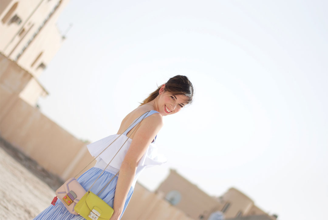 #OOTD: Zara Studio Dress + Furla Metropolis Bag - www.bonjourchiara.com