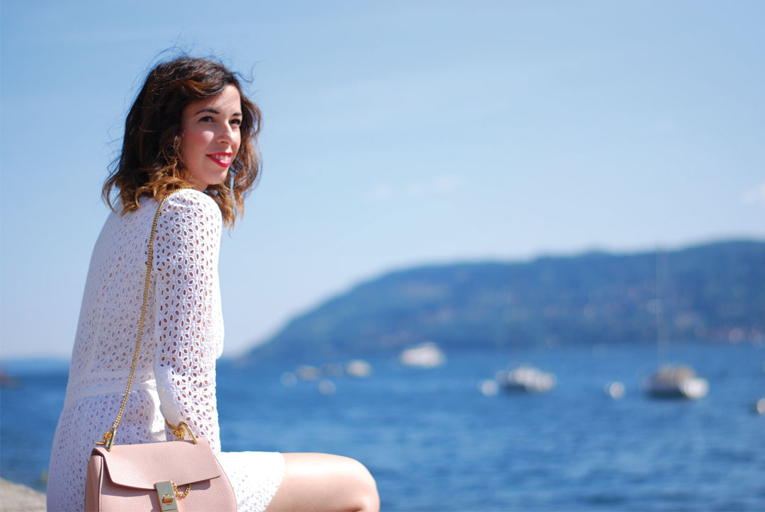 Bonjour Chiara Wears // See By Chloè Little White Dress + Zebra sneakers- www.bonjourchiara.com