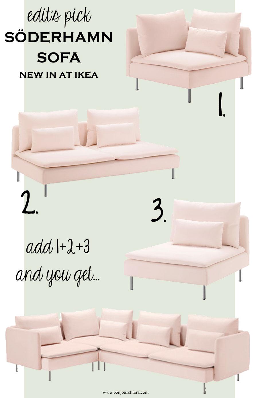 SODERHAMN PINK SOFA // IKEA - WWW.BONJOURCHIARA.COM