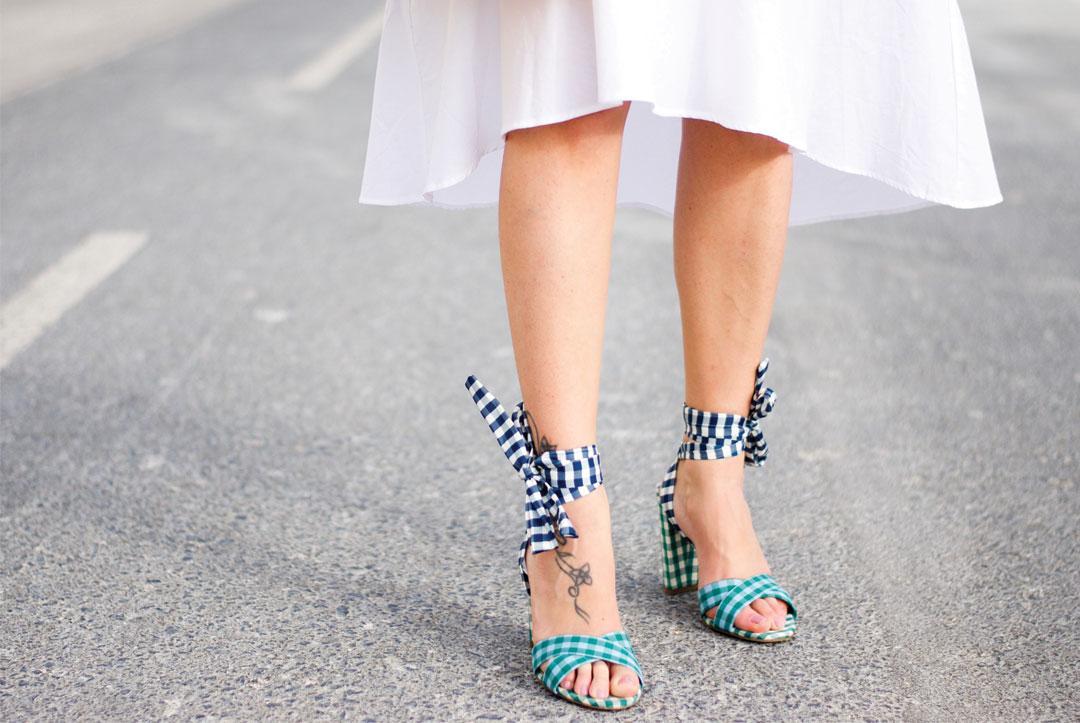 Bonjour Chiara Style // Jcrew Gingham Heels - www.bonjourchiara.com