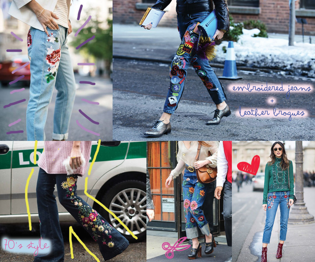 Bonjour Chiara Loves // 3 Fashion Trends I Discovered This Week // Embroidered Jeans - www.bonjourchiara.com