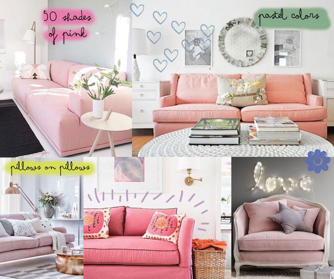 Bonjour Chiara Loves // Pink Sofa - www.bonjourchiara.com