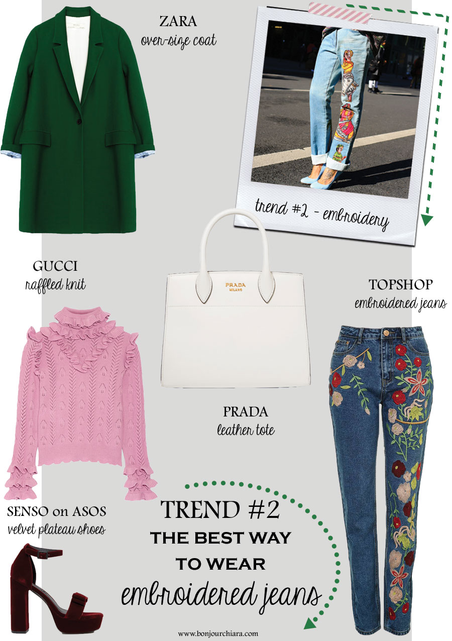Bonjour Chiara Loves // The Best Way To Wear Embroidered Jeans - www.bonjourchiara.com