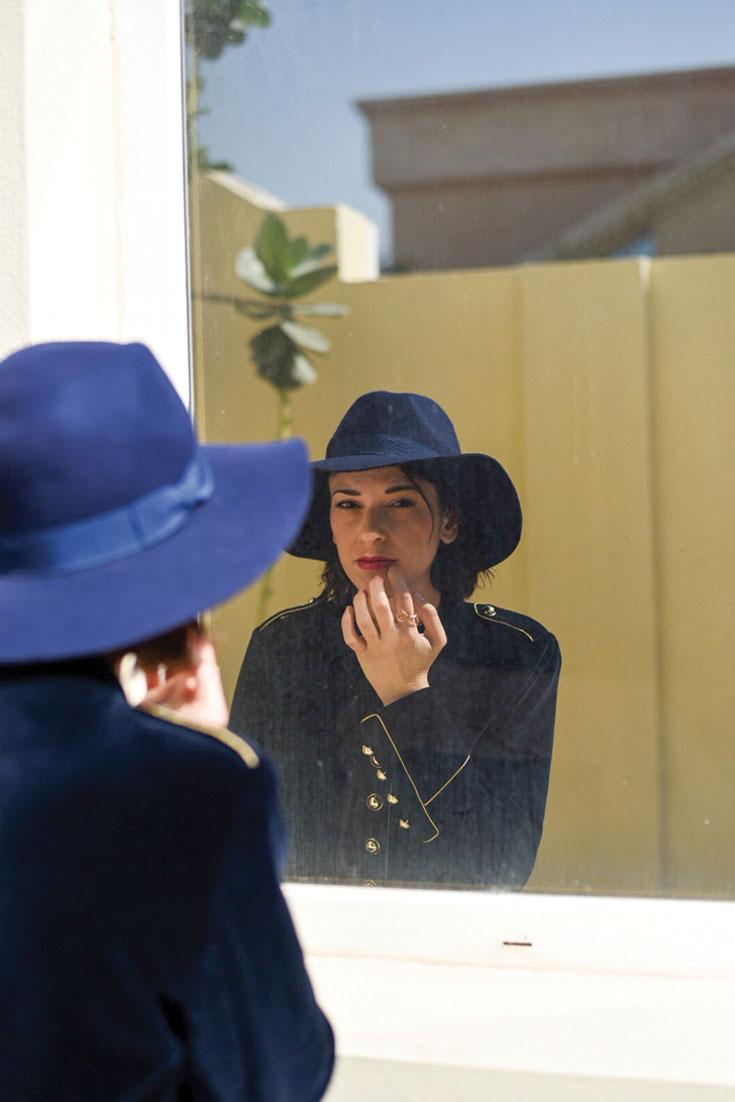 Bonjour Chiara Wears // Christmas Outfit Idea - glitter tights and velvet jacket dress www.bonjourchiara.com