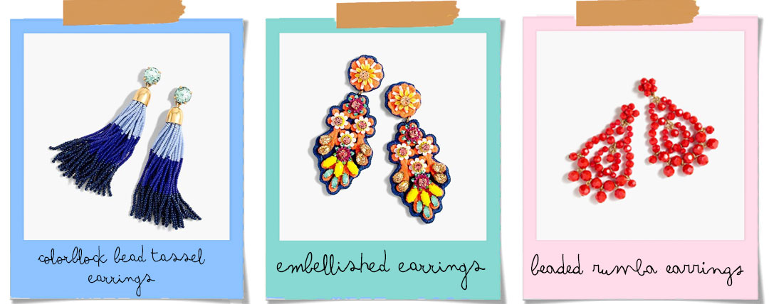 Bonjour Chiara Loves // Statement Earrings: 5 brands you should know - J.CREW earrings
