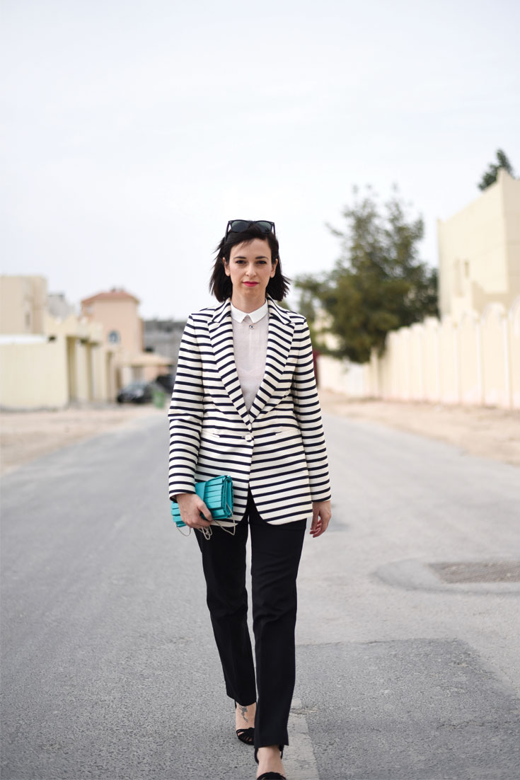 Bonjour Chiara Wears // &Other Stories oversized striped jacket - www.bonjourchiara.com