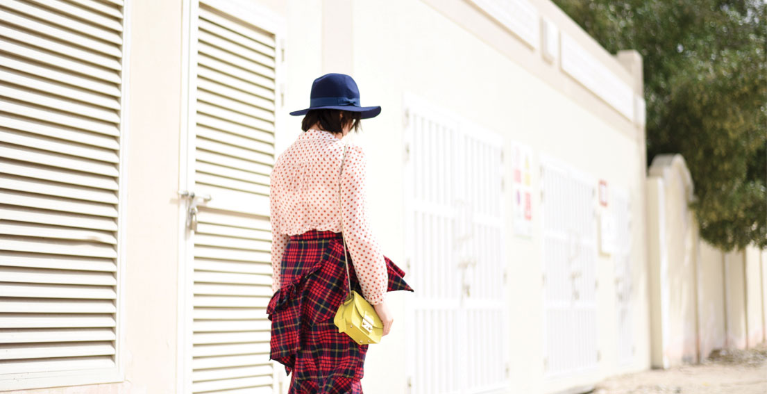 Bonjour Chiara Wears // Sister Jane checked skirt + Golden Goose Polka Dot Shirt - www.bonjourchiara.com