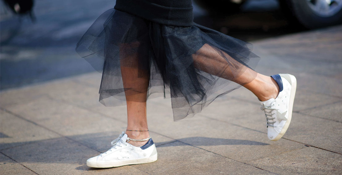 Would You Style A Skirt With Sneakers?