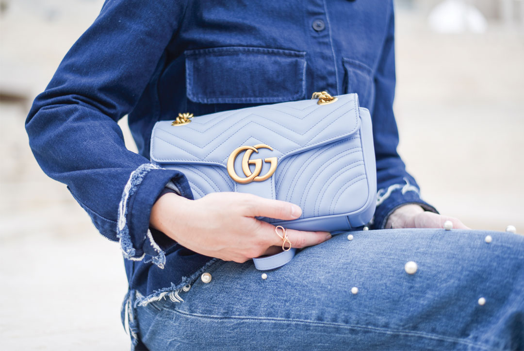 Bonjour Chiara Wears // Denim Jeans + Pearls