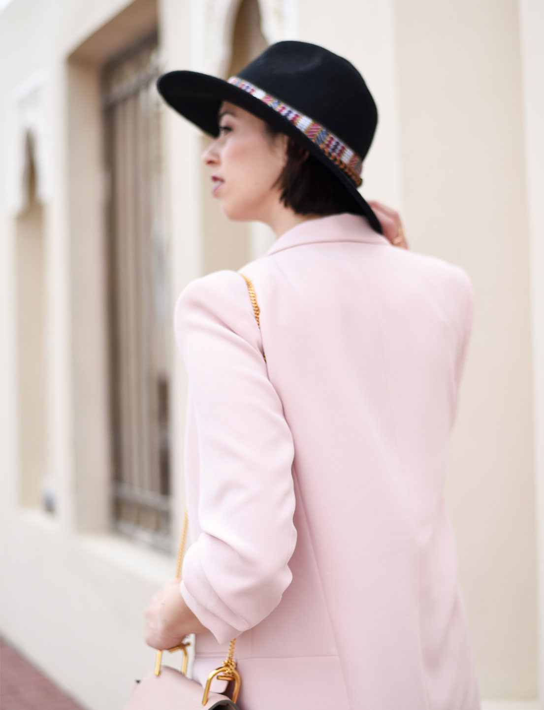 Oversized Powder Pink Jacket + Mini Skirt
