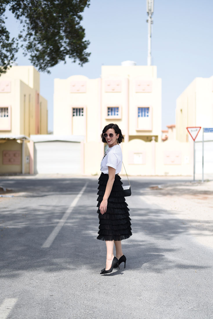 Bonjour Chiara Wears // H&M tulle skirt , Furla Metropolis bag