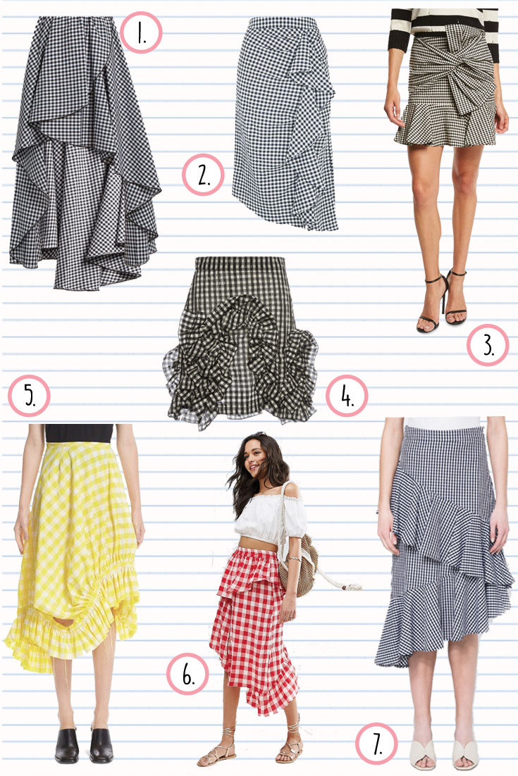 The Fashion Reporter Suggests: The Gingham Skirt