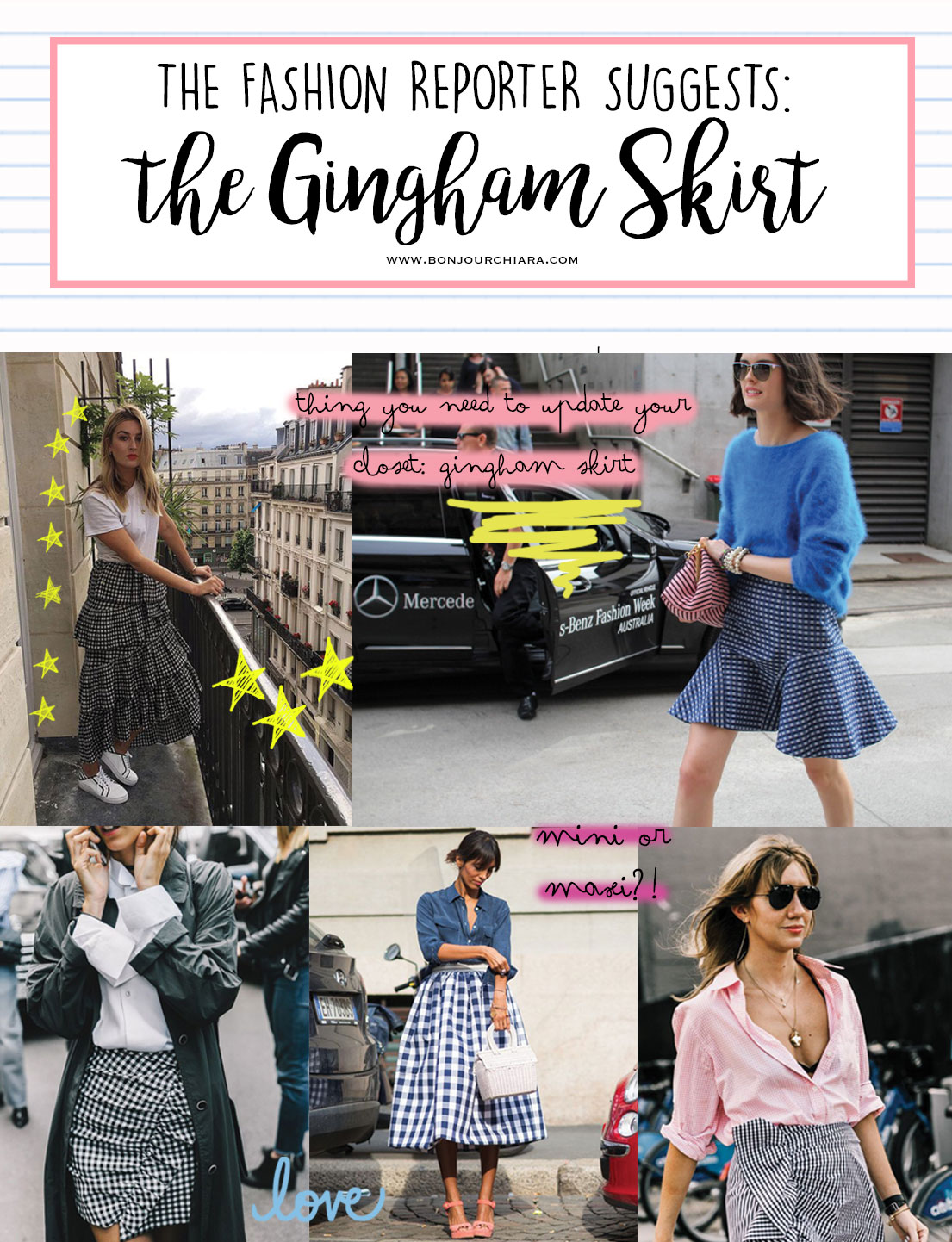 The Gingham Skirt I'm So Into Right Now
