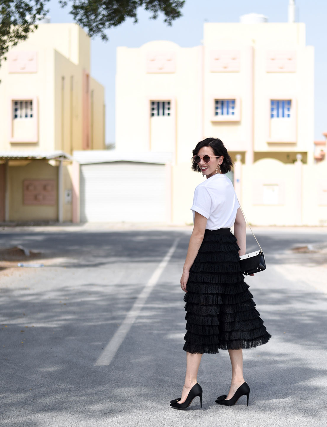 Tulle Skirt + Sporty T-Shirt