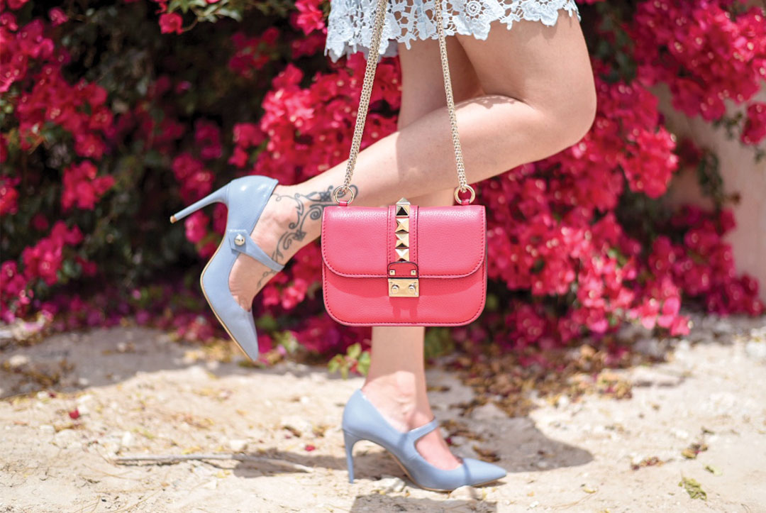 Bonjour Chiara Wears // Valentino Rock Studs Bag and Zara May Jane Shoes