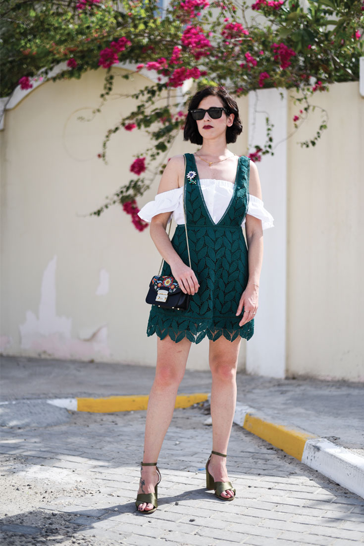 Bonjour Chiara Wears // Mango Dress ,H&M off the shoulder top, Furla Metropolis Bag