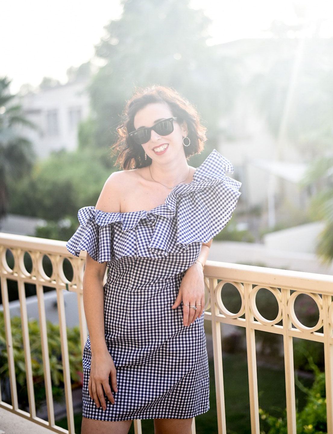 The Little Gingham Ruffle Dress