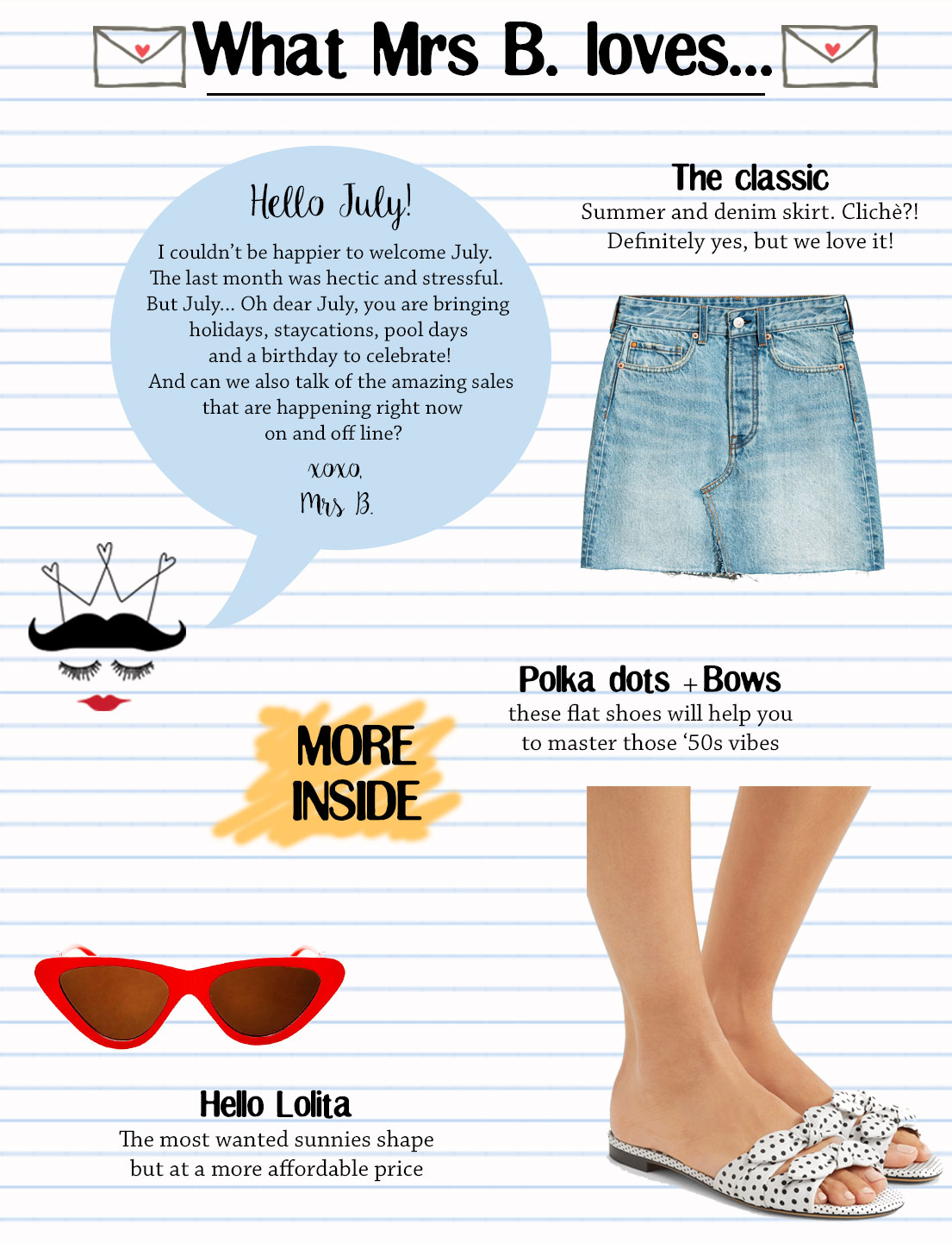 What Mrs B. Loves In July