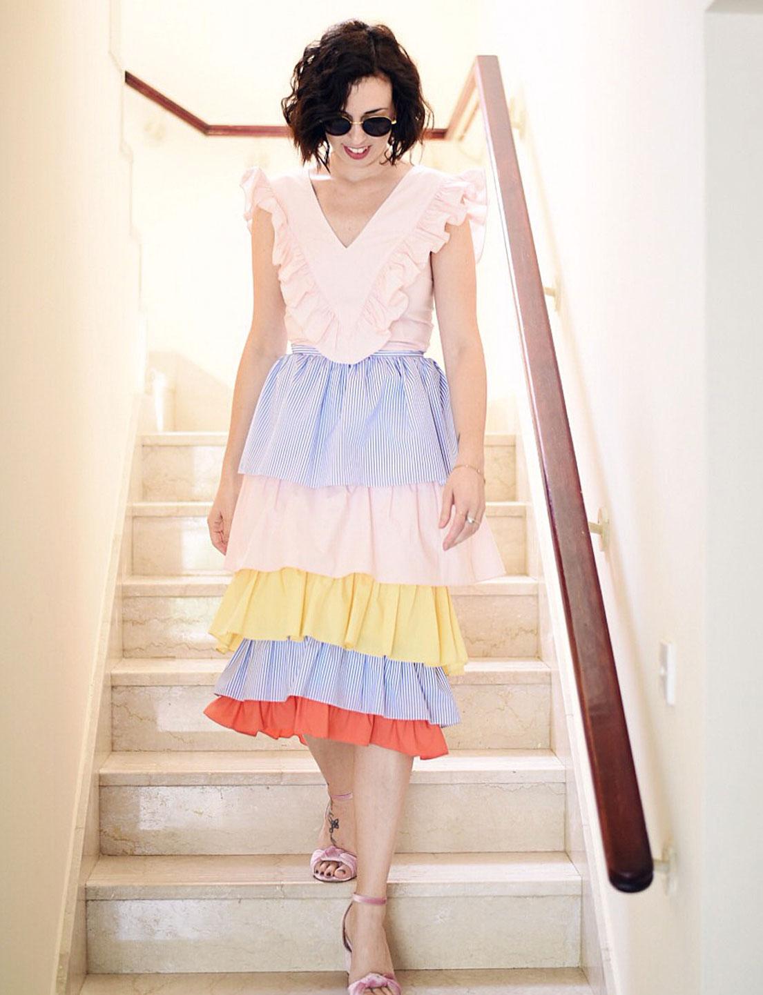 Katr Dobrrkova Rainbow Skirt