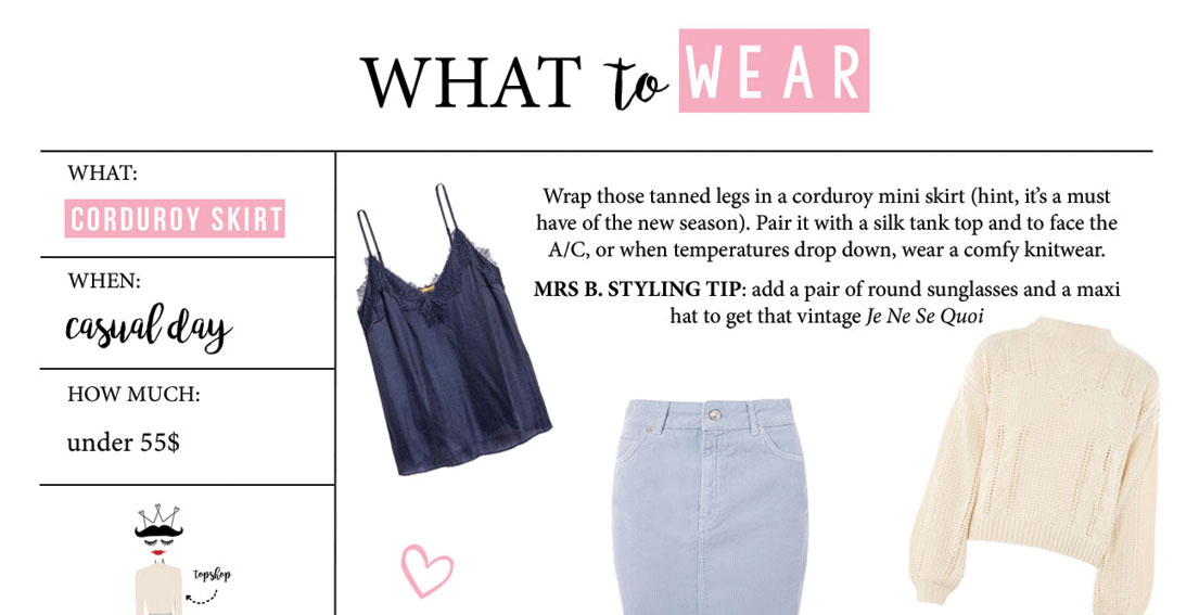 What To Wear – Corduroy Skirt