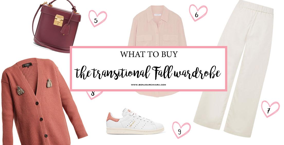 The Transitional Fall Wardrobe - www.bonjourchiara.com