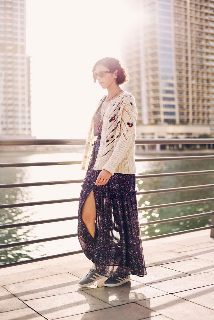 Bonjour Chiara Wears // Ulla Johnson maxi dress - Hoss Intropia sweater - www.bonjourchiara.com