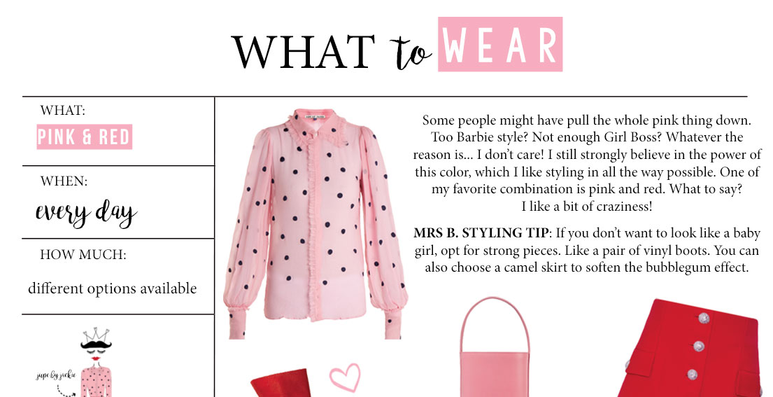 What to Wear – Pink & Red