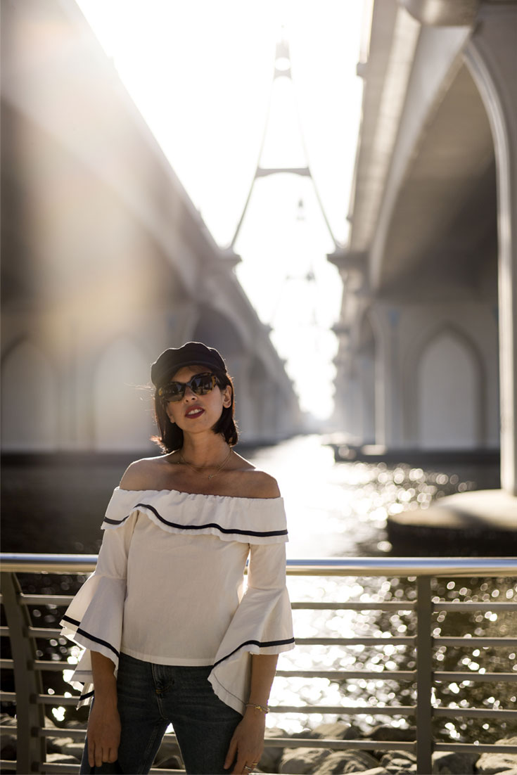 A ridiculously easy way to wear off the shoulder top - Bonjour Chiara