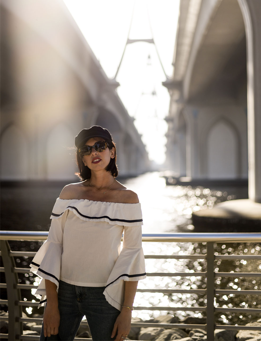 A Ridiculous Easy Way To Wear An Off The Shoulder Top