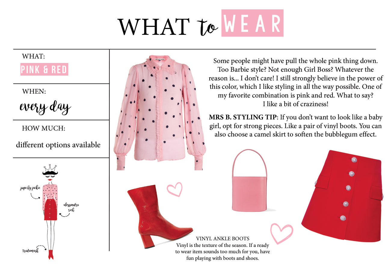 What to Wear // Red Vinyl Boots and Pink Shirt