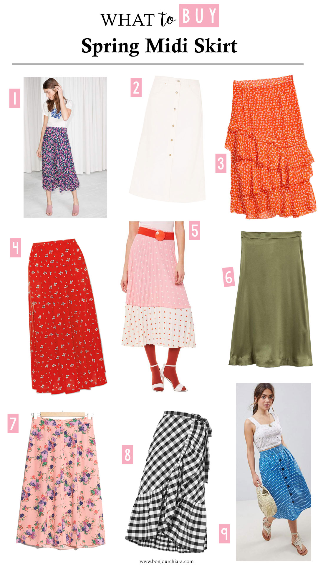 What to Buy : Spring Midi Skirts