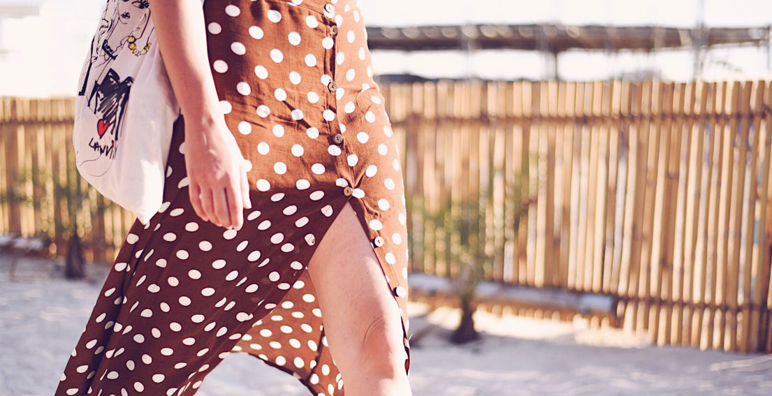 Mango Polka Dot Midi Skirt - Oysho One Piece Swimsuit #mangogirls #Mango #Oysho