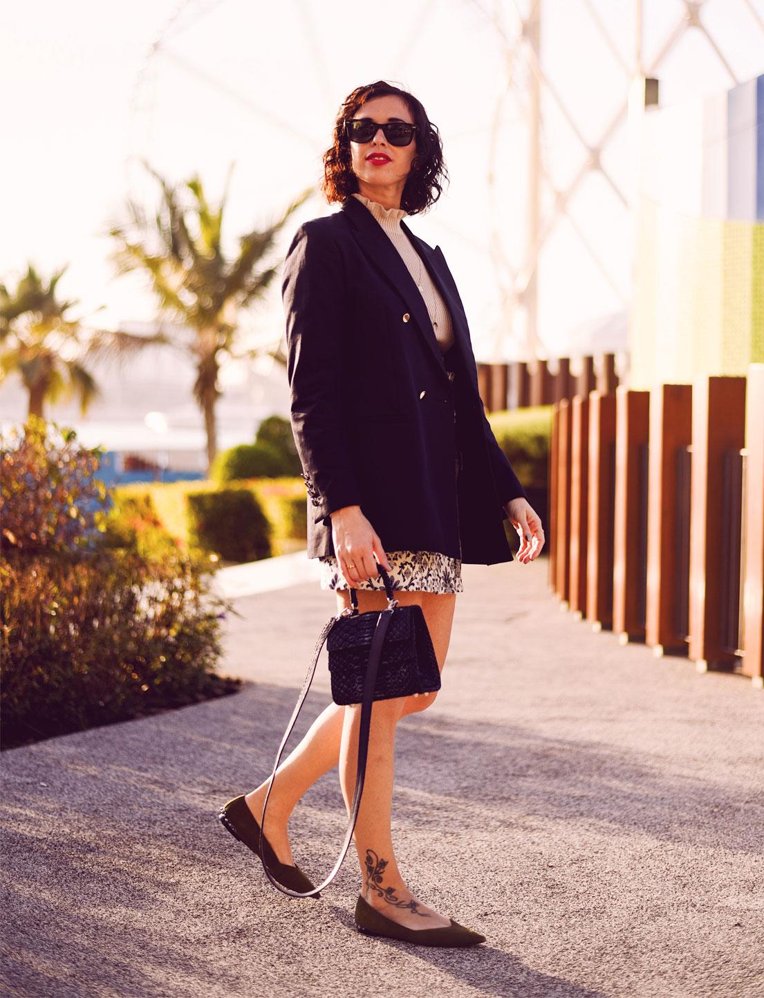 Maxi Blazer + Jacquard Floral Skirt