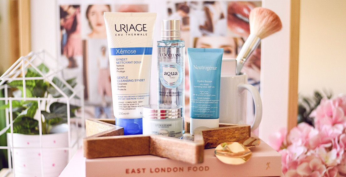 HOW TO HYDRATE DRY SKIN: Neutrogena, Uriage and L'Occitane #dryskin