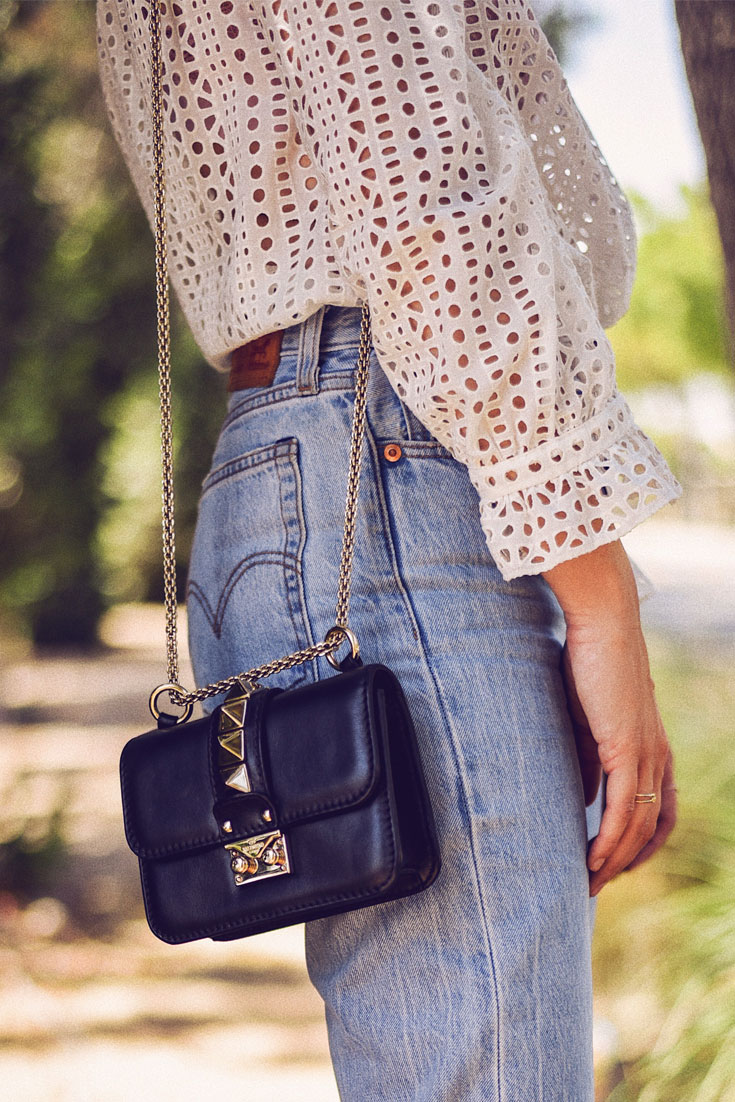 DENIM AND LACE // Lace top and vintage Levis jeans