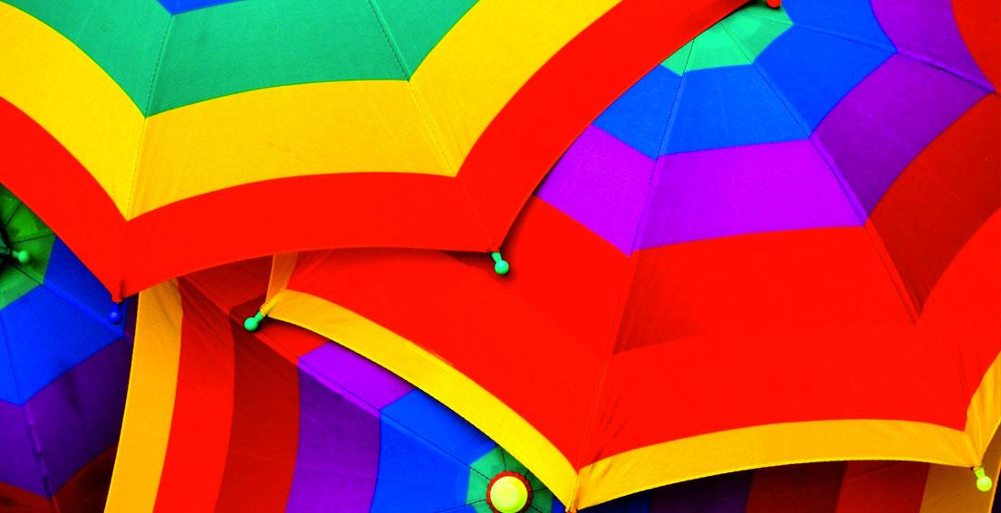 Under The Rain With Fabulous Umbrellas