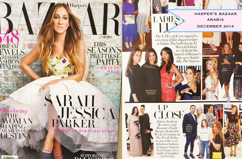 On Harper's Bazaar Arabia - December 2014