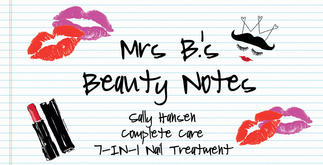 Beauty Review: Sally Hansen Complete Care 7-In-1 Nail Treatment - www.bonjourchiara.com