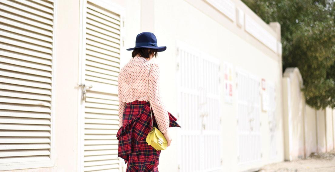 Bonjour Chiara Wears // Sister Jane checked skirt + Golden Goose Polka Dot Shirt - www.bonjourchiara.com