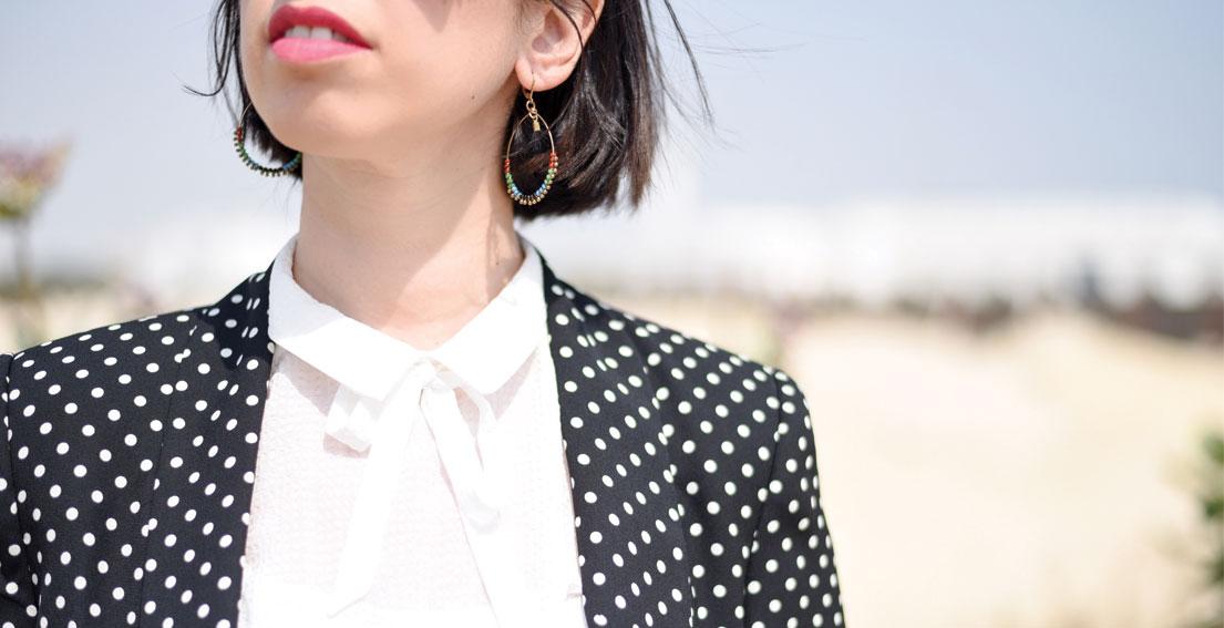Bonjour Chiara Wears // Zara suit with polka dots - www.bonjourchiara.com