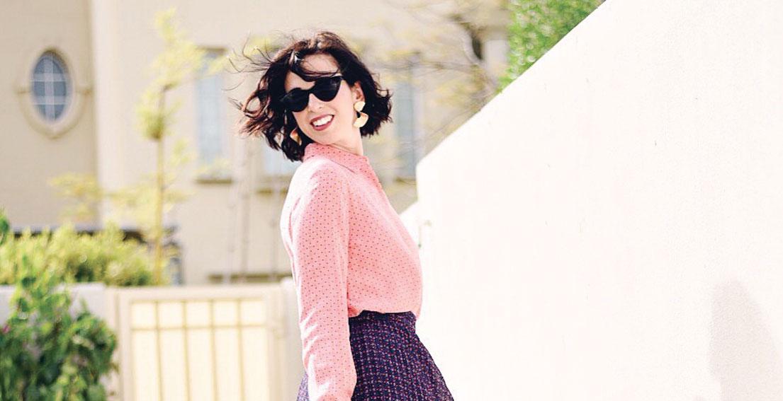 Bonjour Chiara Wears // &other stories silk shirt and skirt